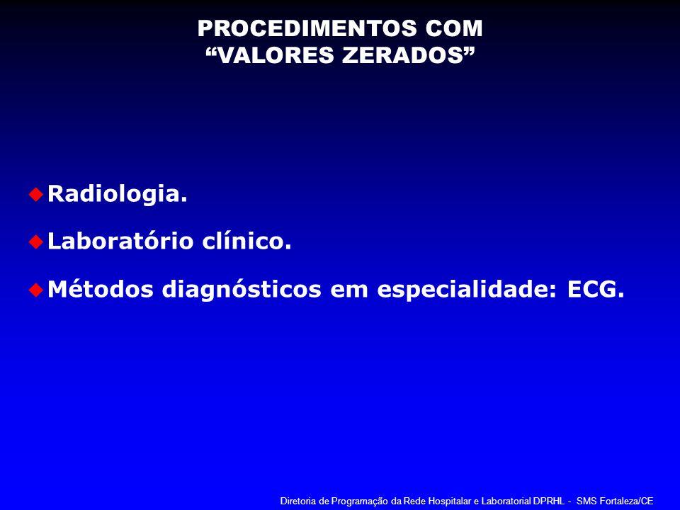 Métodos diagnósticos em especialidade: ECG.