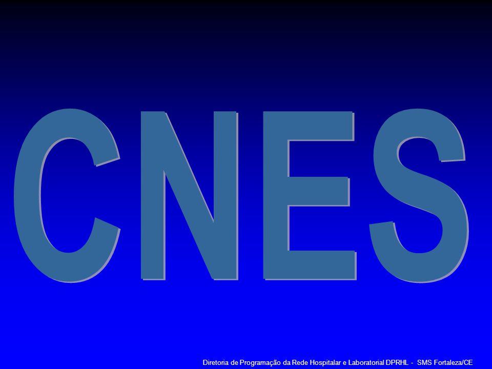 CNES Diretoria de Programação da Rede Hospitalar e Laboratorial DPRHL - SMS Fortaleza/CE