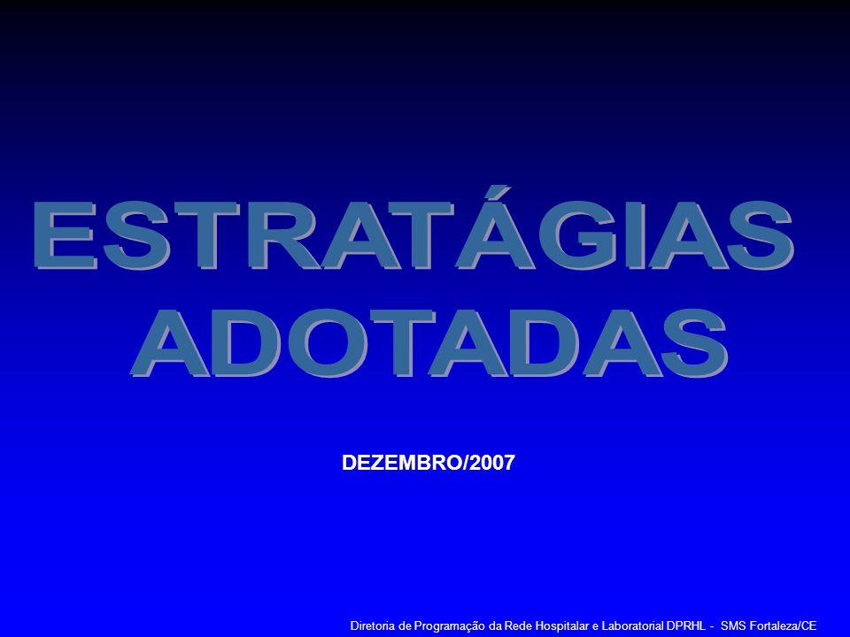 ESTRATÁGIAS ADOTADAS DEZEMBRO/2007