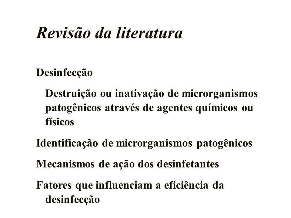 Revisão da literatura Desinfecção