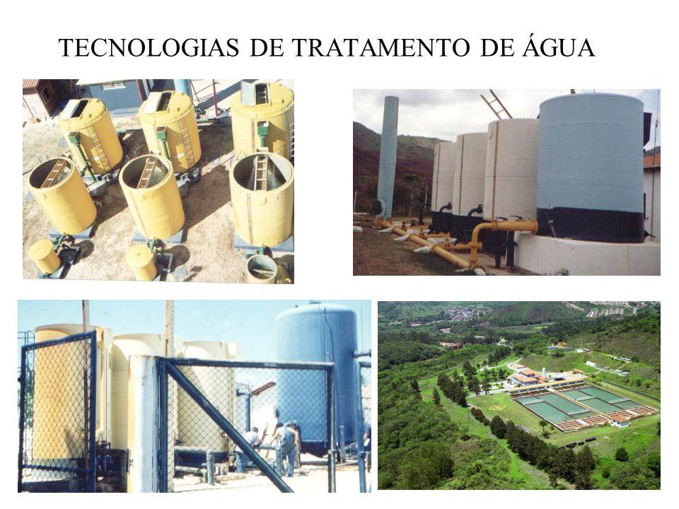 TECNOLOGIAS DE TRATAMENTO DE ÁGUA