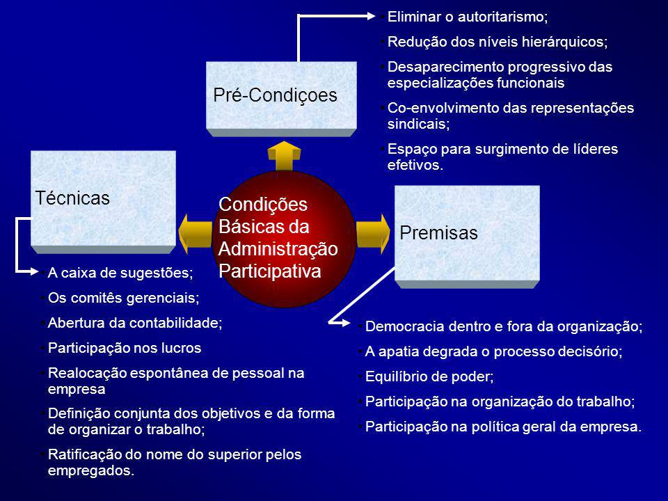 Condições Básicas da Administração Participativa