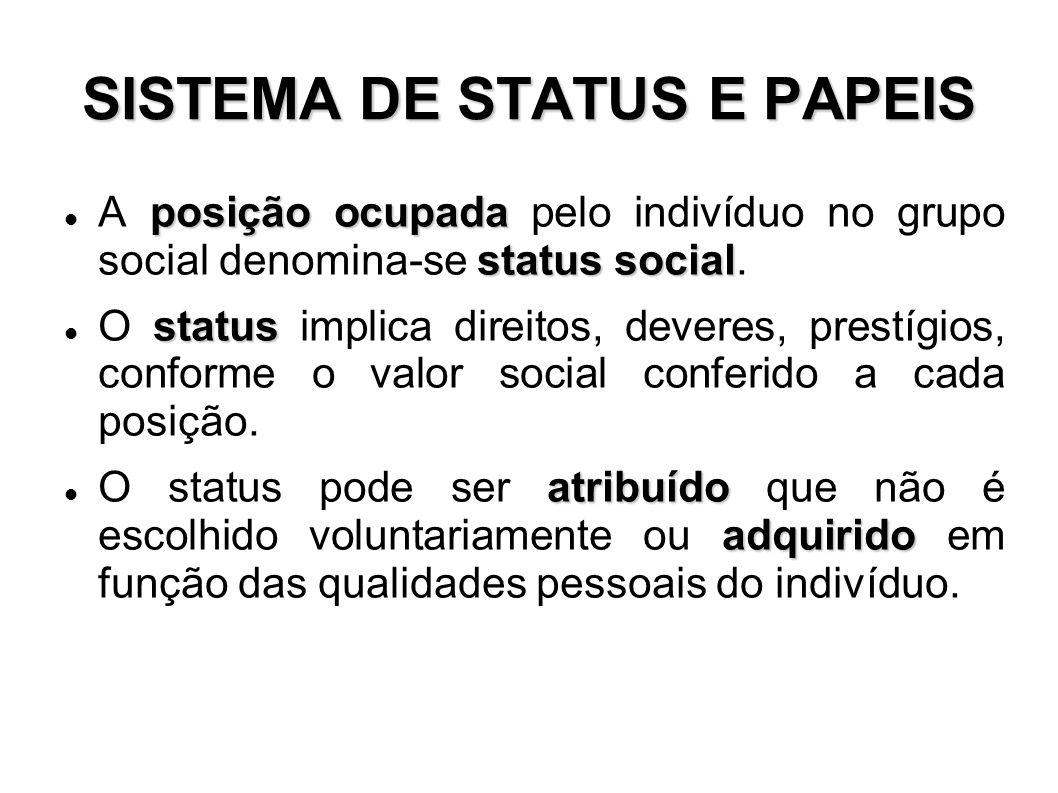 SISTEMA DE STATUS E PAPEIS