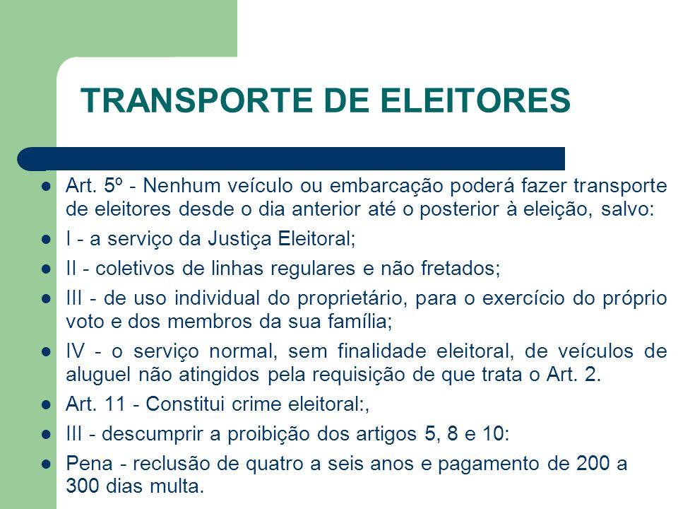 TRANSPORTE DE ELEITORES