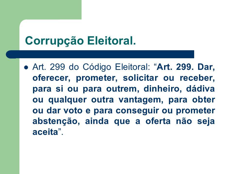 Corrupção Eleitoral.