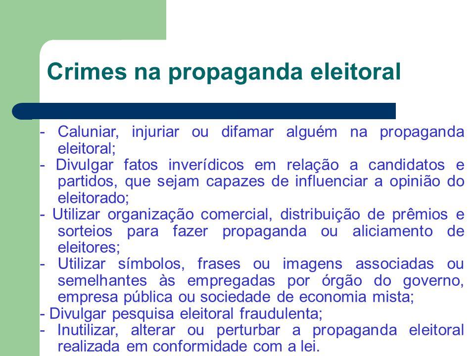 Crimes na propaganda eleitoral