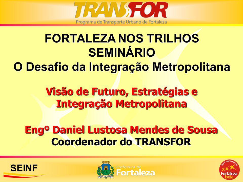 FORTALEZA NOS TRILHOS SEMINÁRIO O Desafio da Integração Metropolitana