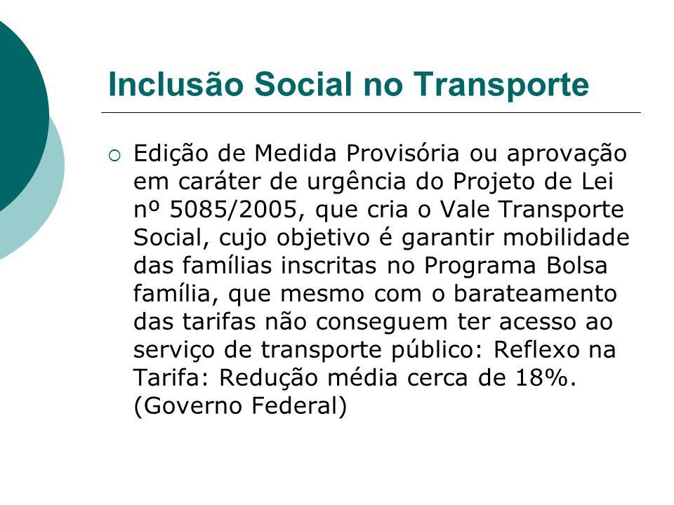 Inclusão Social no Transporte