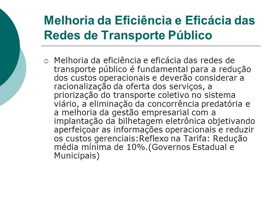 Melhoria da Eficiência e Eficácia das Redes de Transporte Público