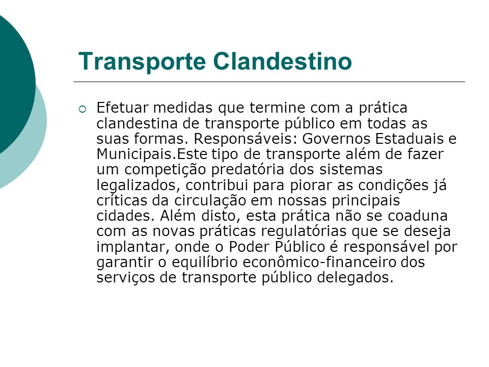 Transporte Clandestino