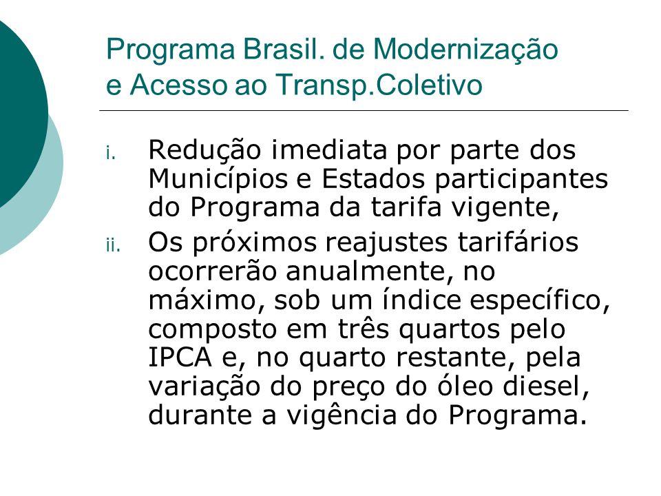 Programa Brasil. de Modernização e Acesso ao Transp.Coletivo