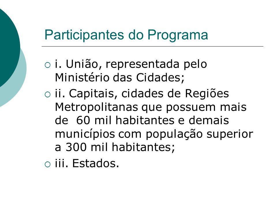 Participantes do Programa