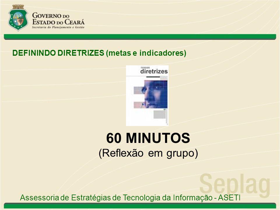 60 MINUTOS (Reflexão em grupo)