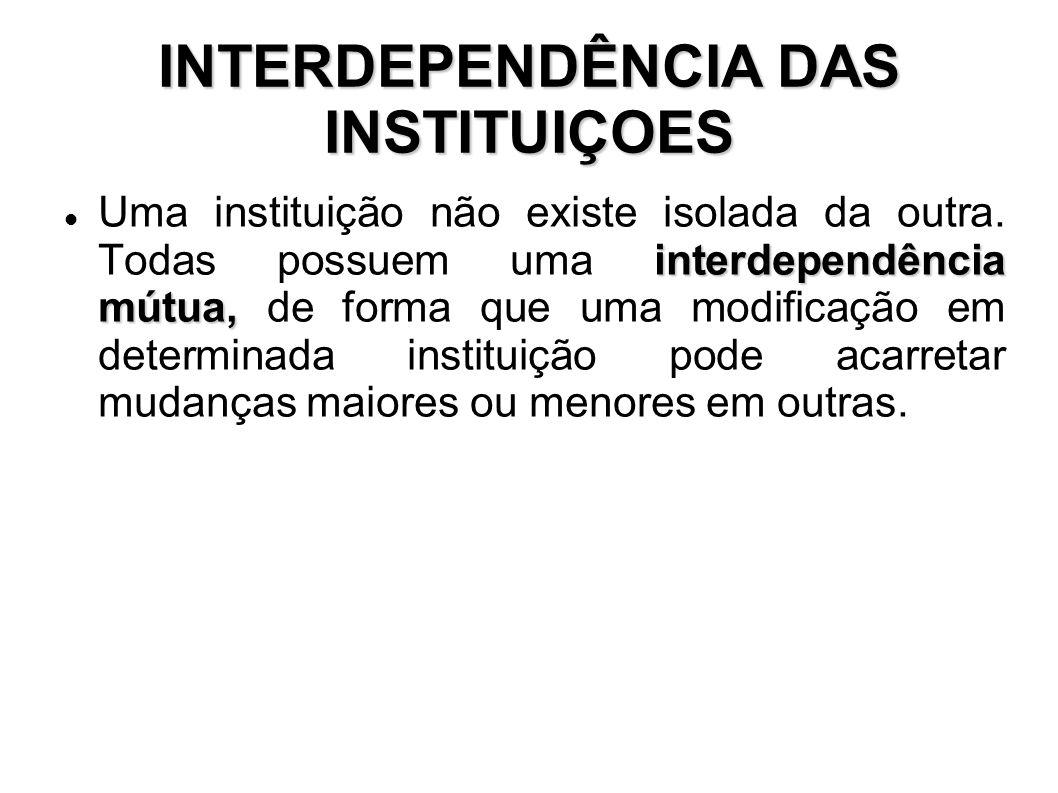 INTERDEPENDÊNCIA DAS INSTITUIÇOES
