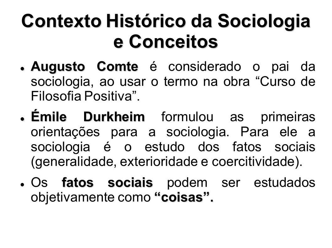 Contexto Histórico da Sociologia e Conceitos