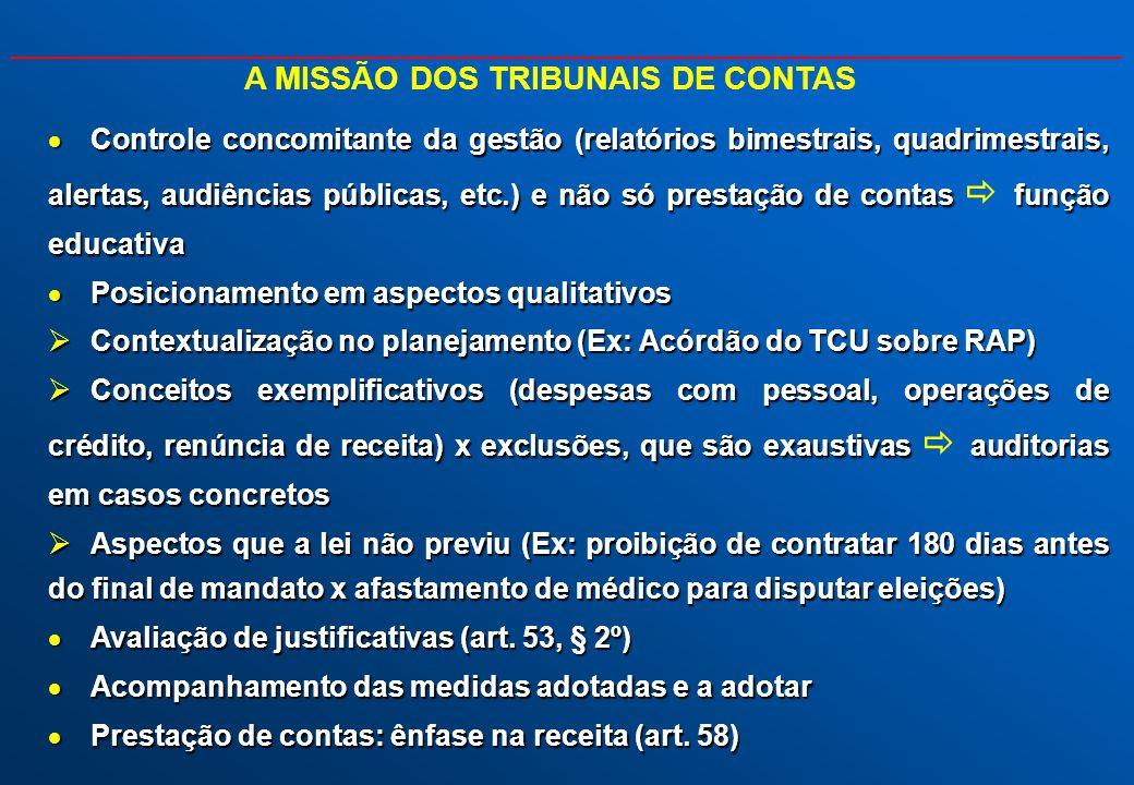 A MISSÃO DOS TRIBUNAIS DE CONTAS