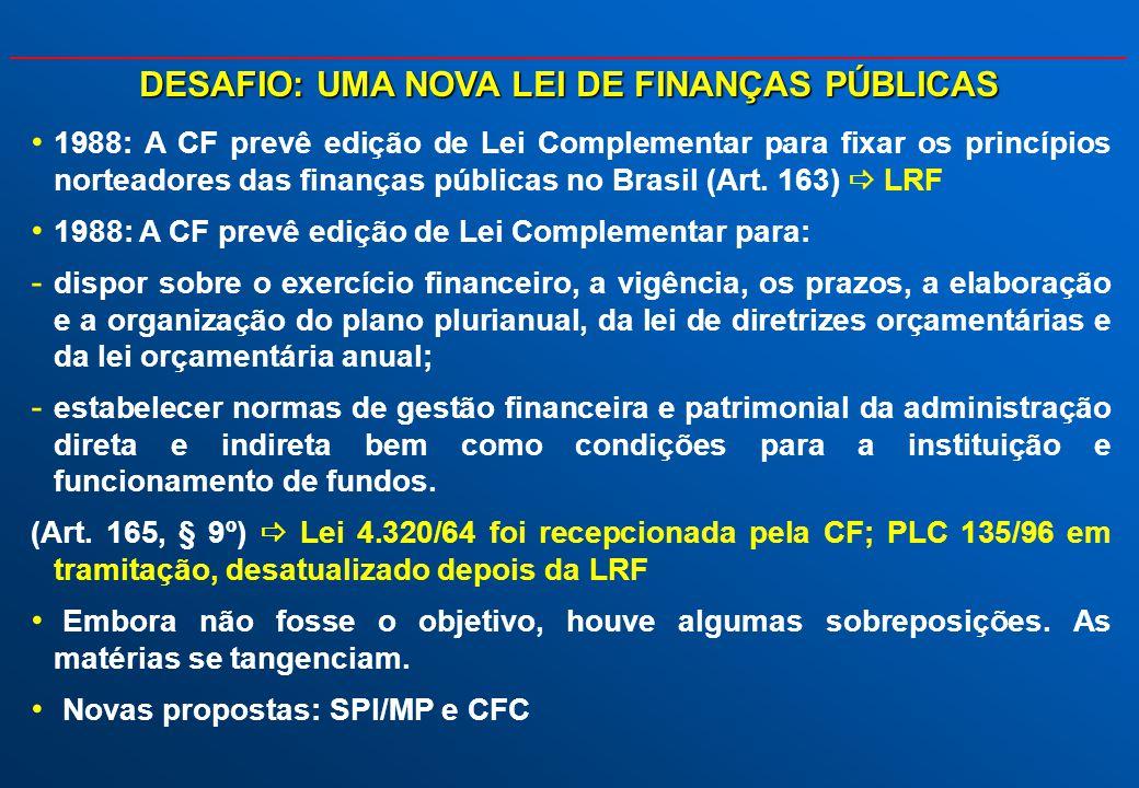 DESAFIO: UMA NOVA LEI DE FINANÇAS PÚBLICAS