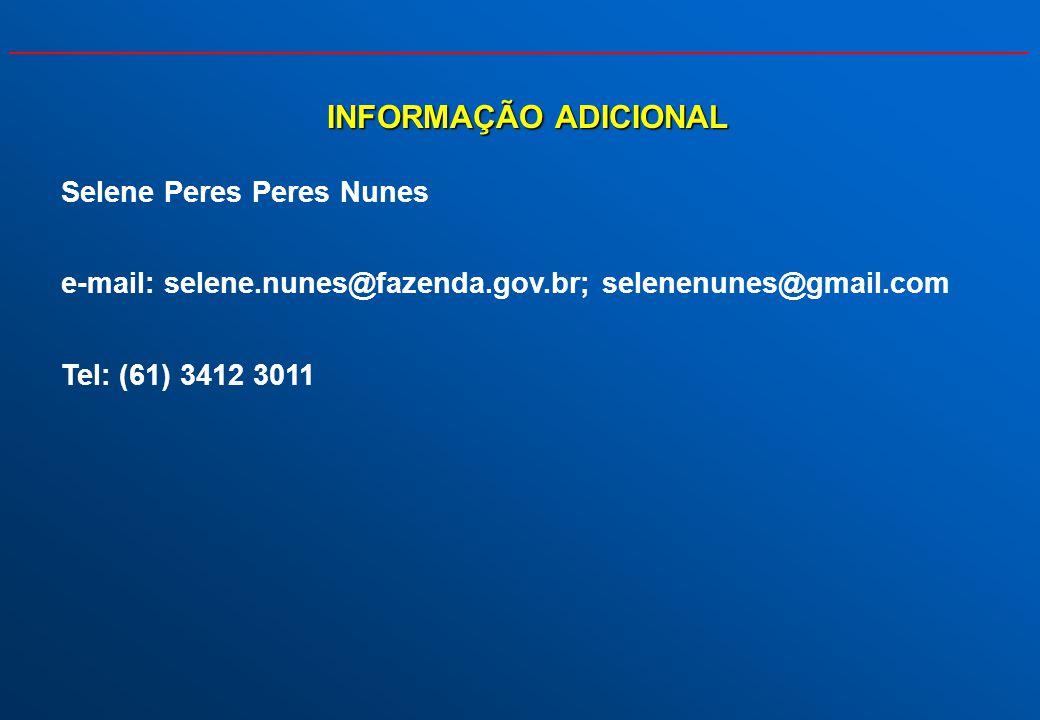 INFORMAÇÃO ADICIONAL Selene Peres Peres Nunes