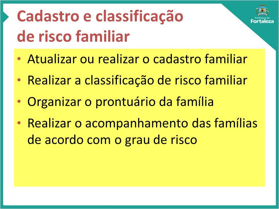 Cadastro e classificação de risco familiar