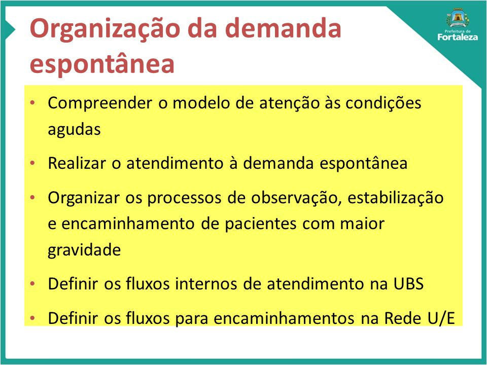 Organização da demanda espontânea