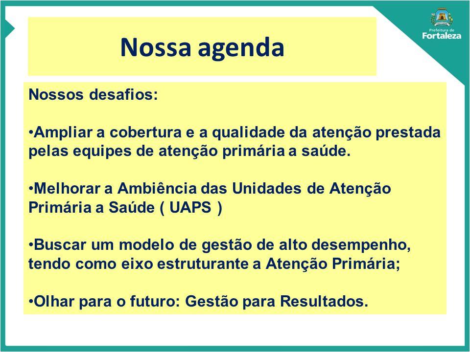 Nossa agenda Nossos desafios: