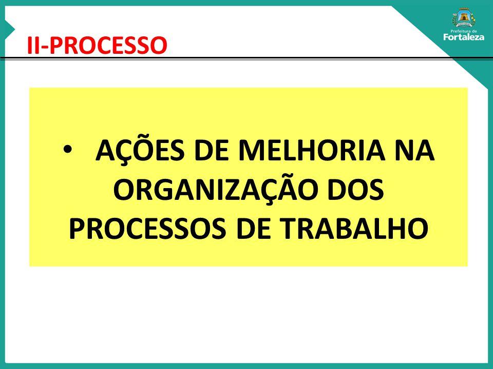 AÇÕES DE MELHORIA NA ORGANIZAÇÃO DOS PROCESSOS DE TRABALHO