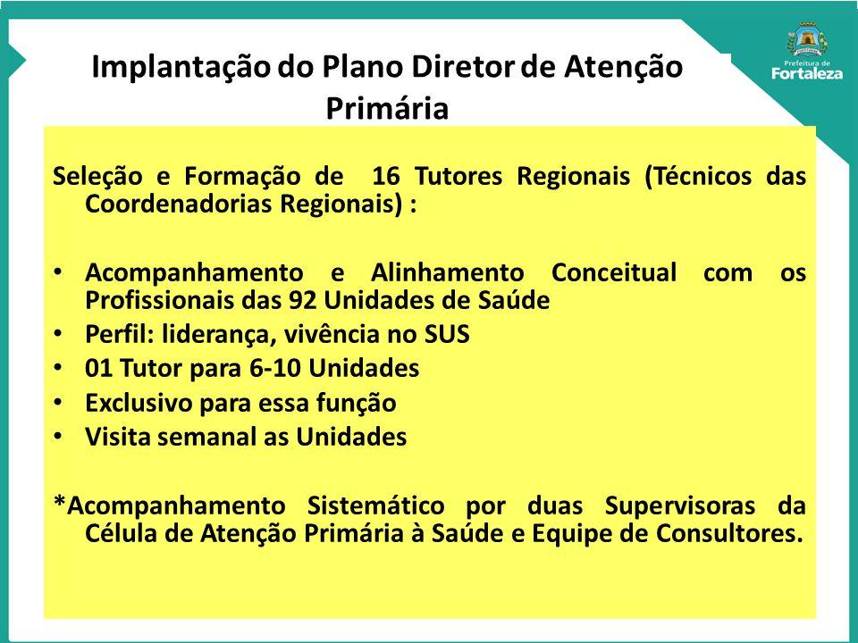 Implantação do Plano Diretor de Atenção Primária