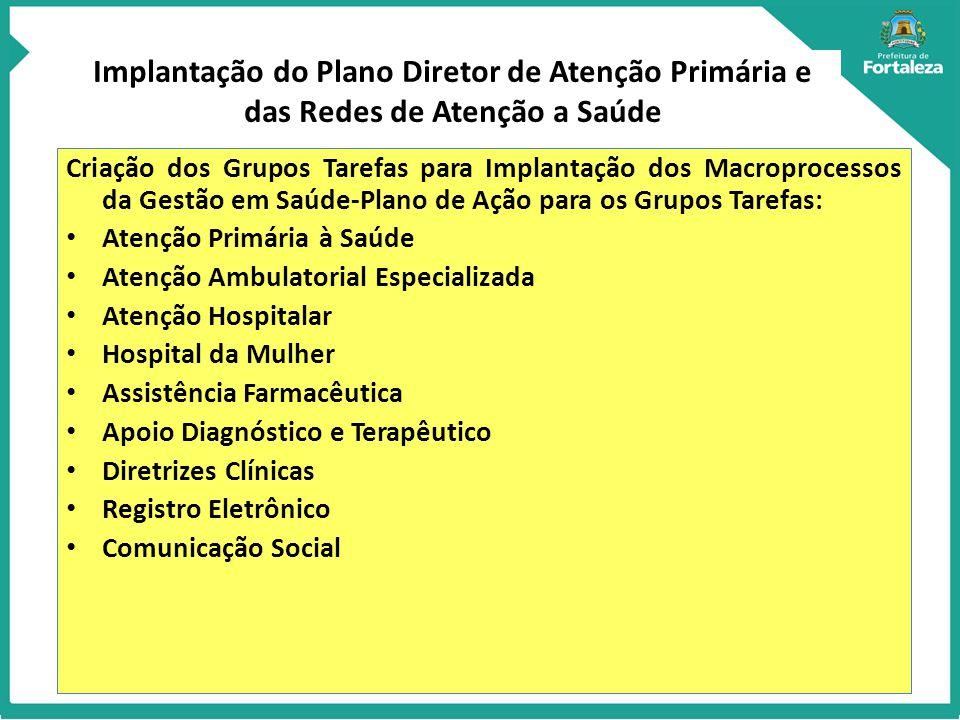 Implantação do Plano Diretor de Atenção Primária e das Redes de Atenção a Saúde