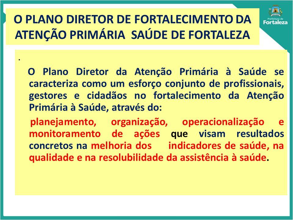 O PLANO DIRETOR DE FORTALECIMENTO DA ATENÇÃO PRIMÁRIA SAÚDE DE FORTALEZA