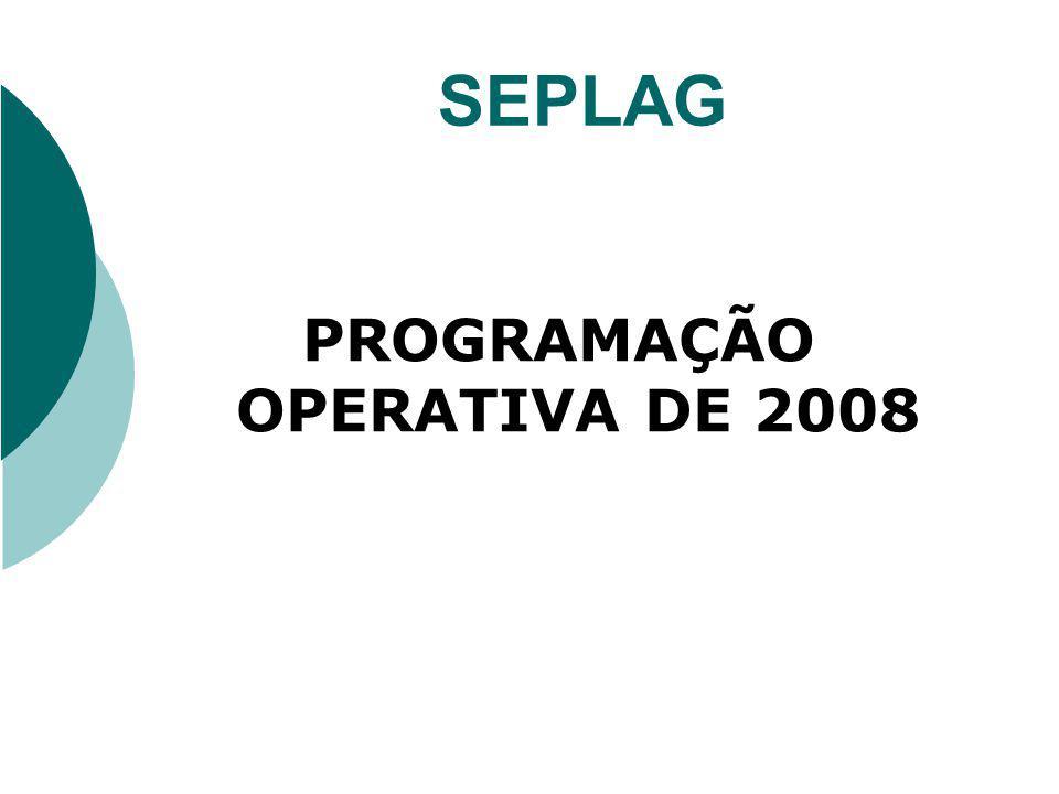 PROGRAMAÇÃO OPERATIVA DE 2008