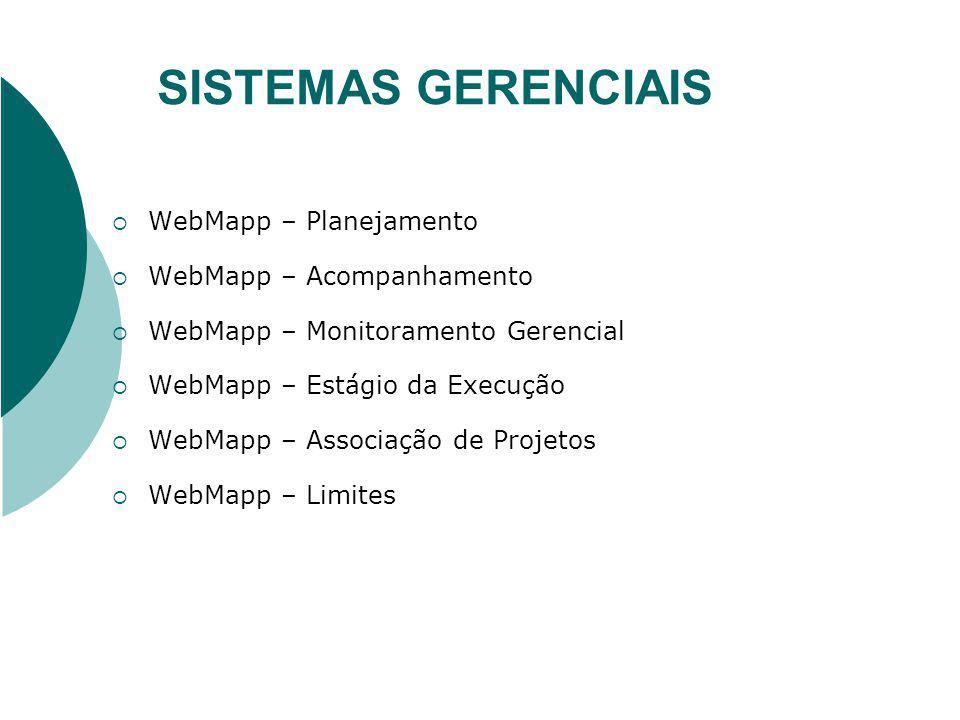 SISTEMAS GERENCIAIS WebMapp – Planejamento WebMapp – Acompanhamento