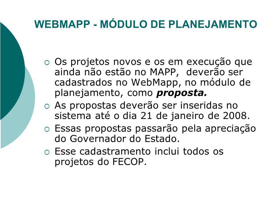 WEBMAPP - MÓDULO DE PLANEJAMENTO