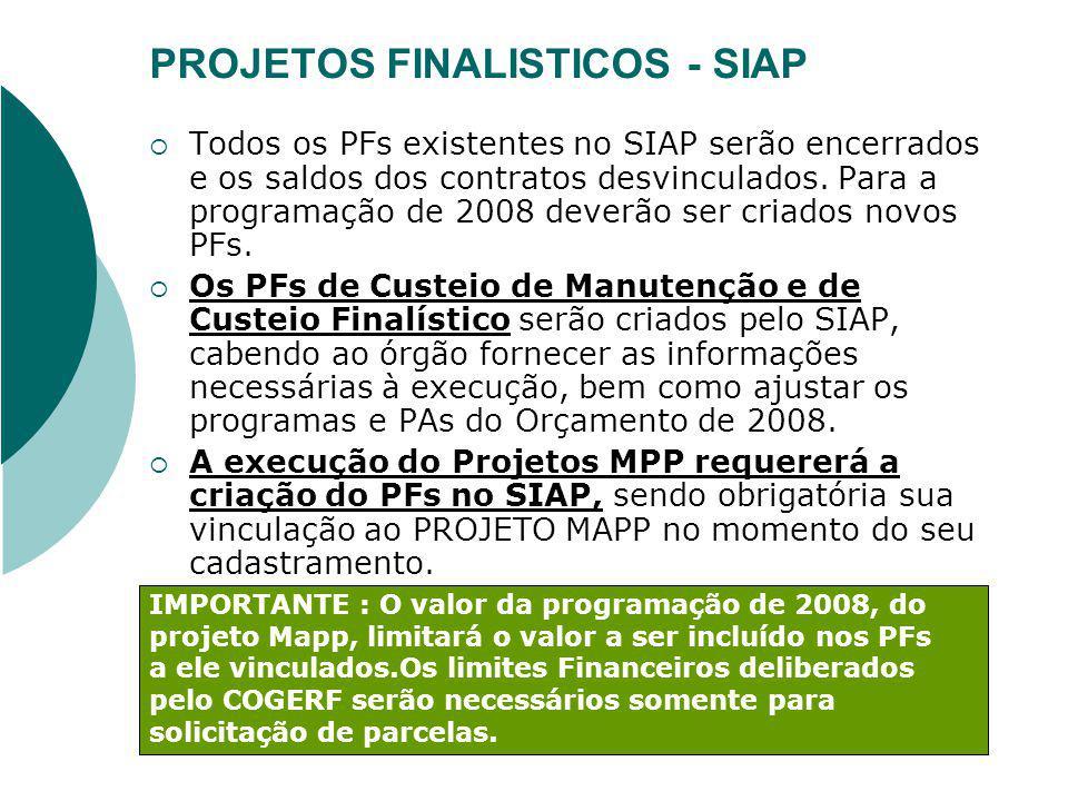 PROJETOS FINALISTICOS - SIAP