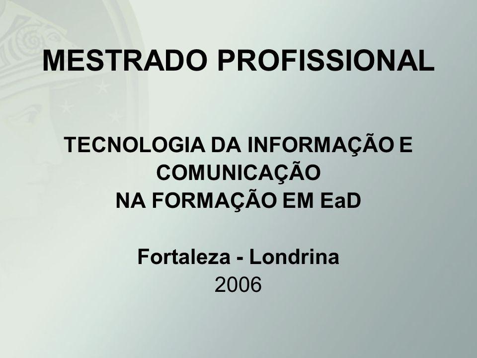 MESTRADO PROFISSIONAL