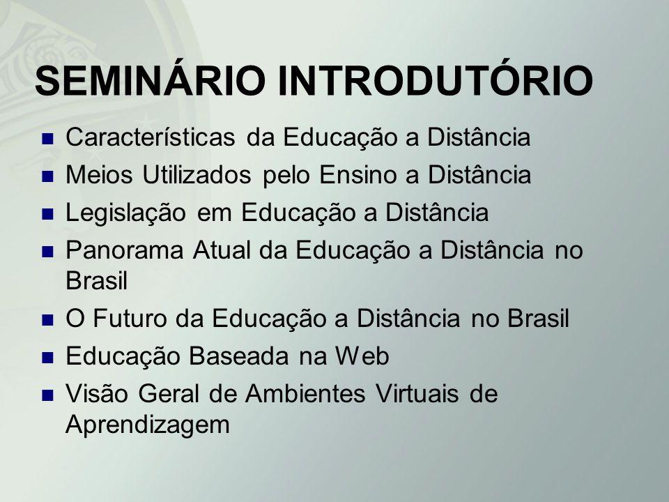 SEMINÁRIO INTRODUTÓRIO