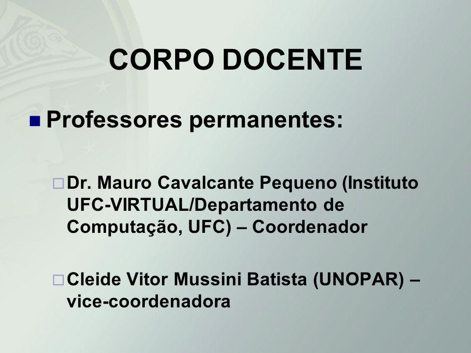 CORPO DOCENTE Professores permanentes: