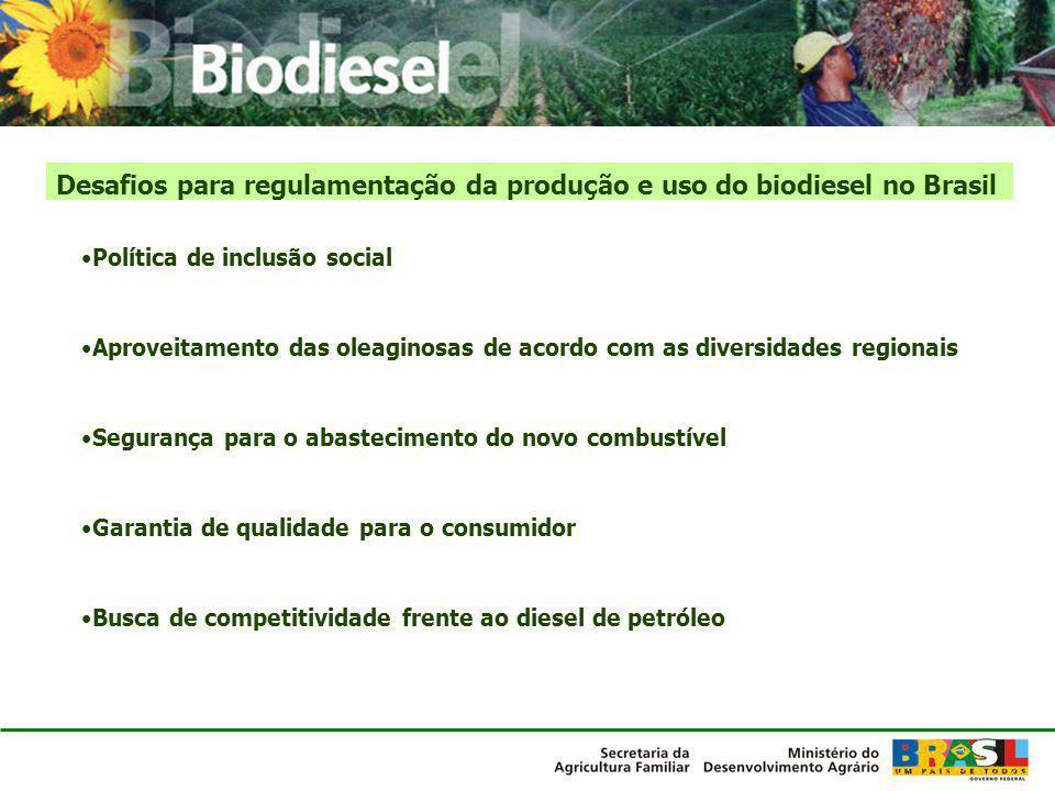 Desafios para regulamentação da produção e uso do biodiesel no Brasil