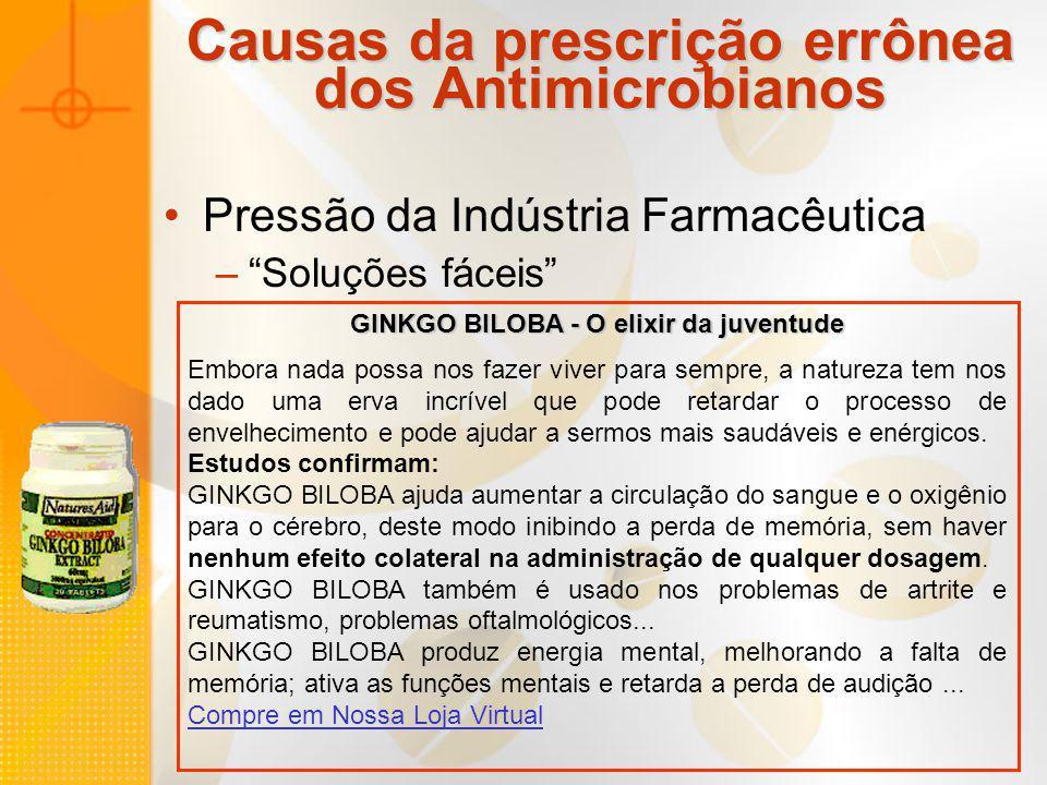 Causas da prescrição errônea dos Antimicrobianos