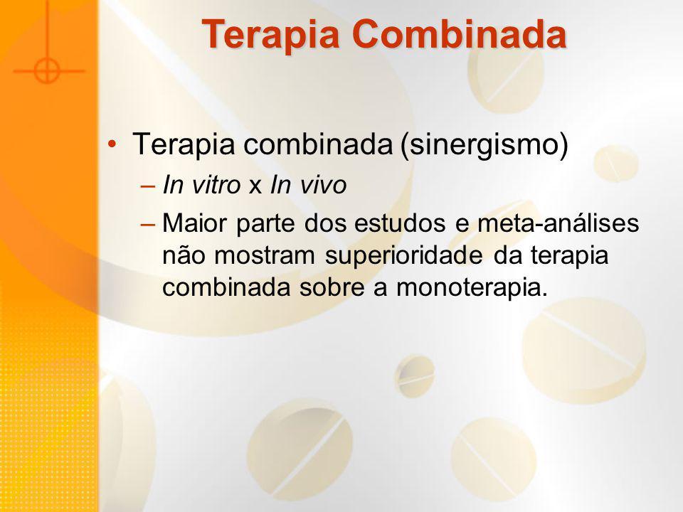Terapia Combinada Terapia combinada (sinergismo) In vitro x In vivo