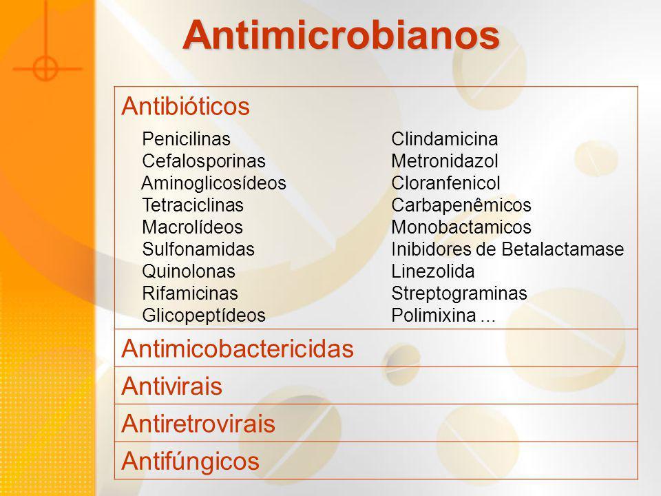 Antimicrobianos Antibióticos Antimicobactericidas Antivirais