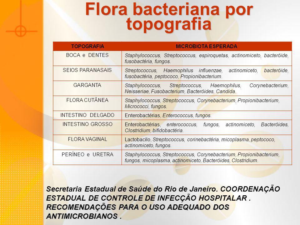Flora bacteriana por topografia