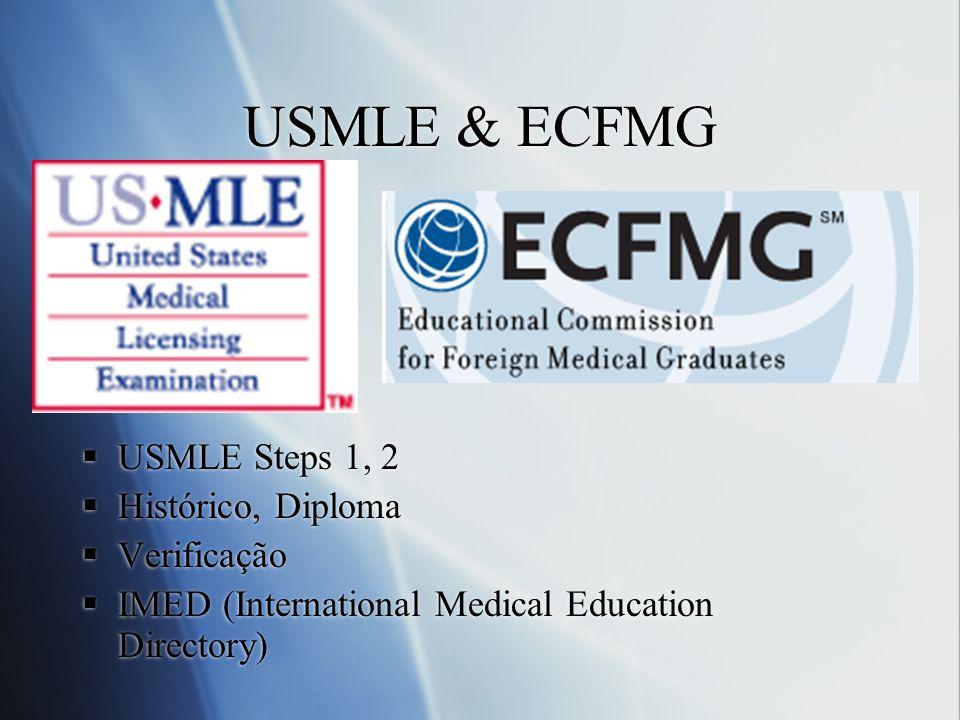USMLE & ECFMG USMLE Steps 1, 2 Histórico, Diploma Verificação