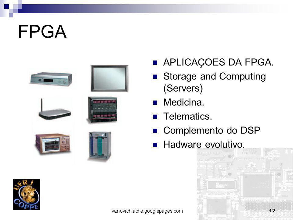 FPGA APLICAÇOES DA FPGA. Storage and Computing (Servers) Medicina.