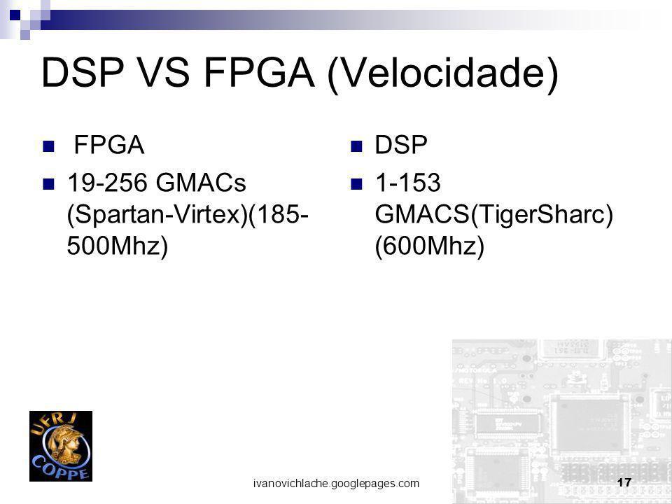 DSP VS FPGA (Velocidade)