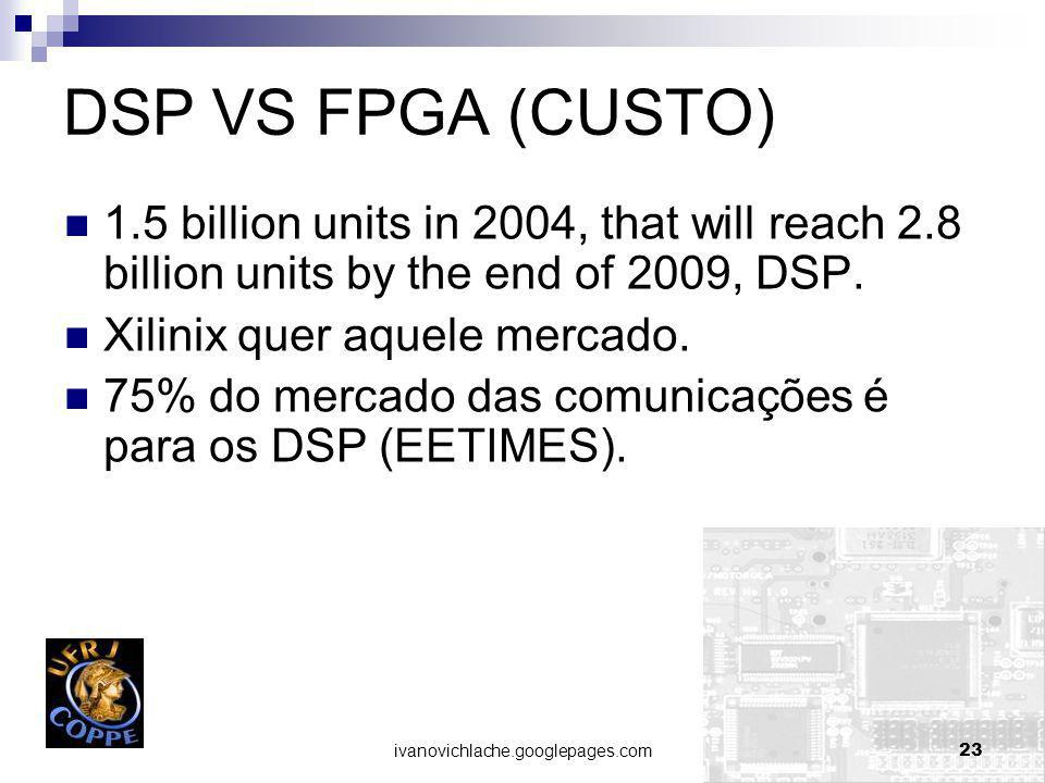 DSP VS FPGA (CUSTO) 1.5 billion units in 2004, that will reach 2.8 billion units by the end of 2009, DSP.