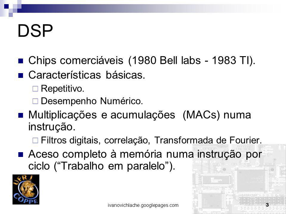 DSP Chips comerciáveis (1980 Bell labs - 1983 TI).