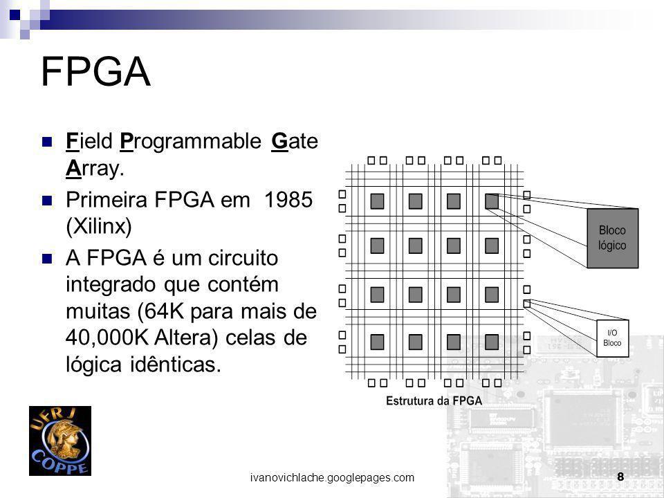 FPGA Field Programmable Gate Array. Primeira FPGA em 1985 (Xilinx)