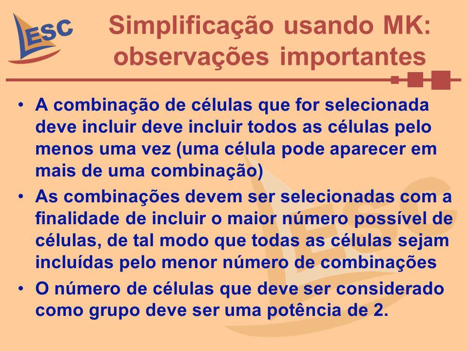 Simplificação usando MK: observações importantes