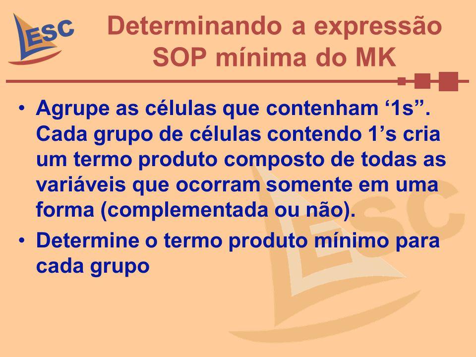 Determinando a expressão SOP mínima do MK