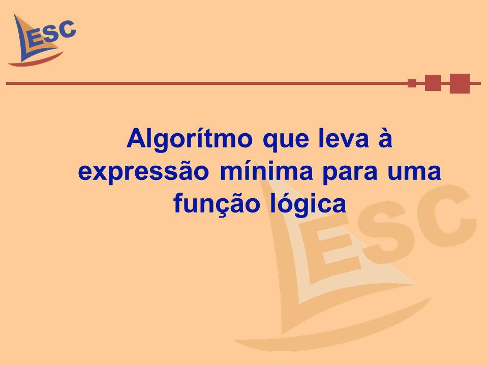Algorítmo que leva à expressão mínima para uma função lógica